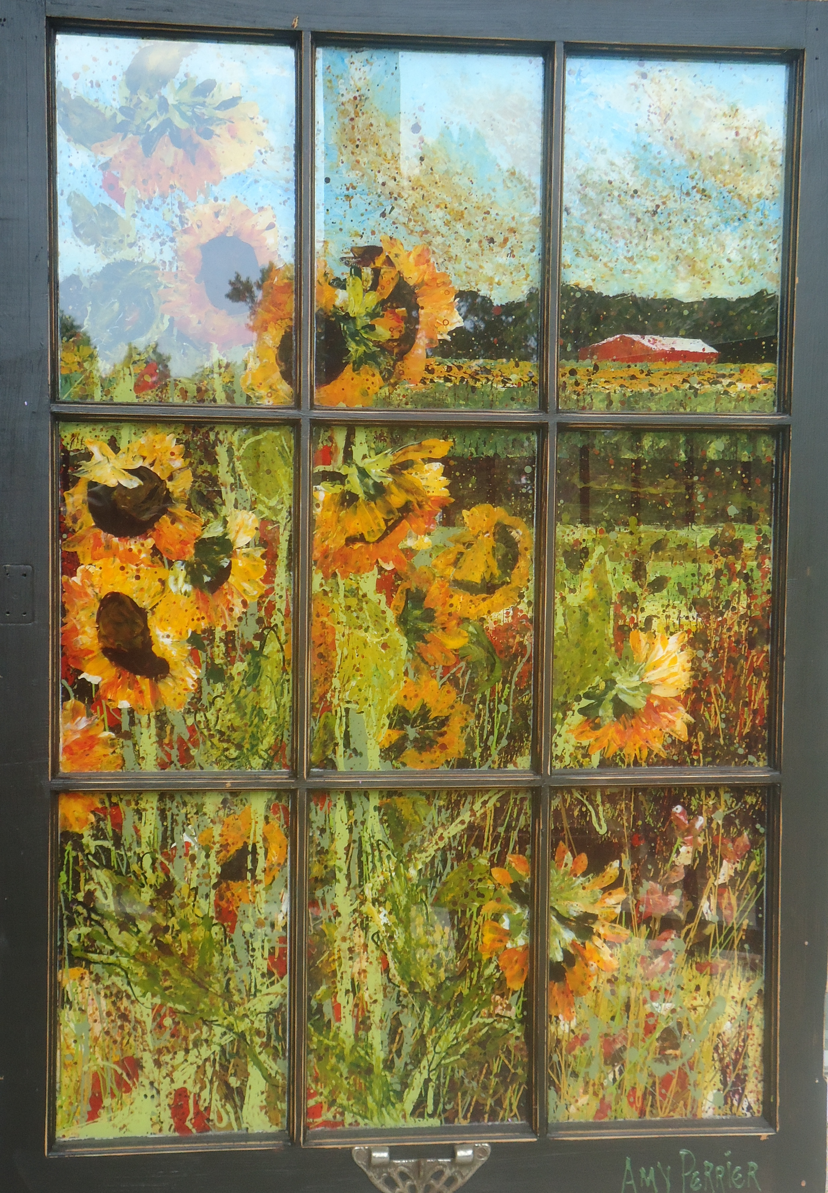 Painting On Glass Windows : August the gun carryin librarian